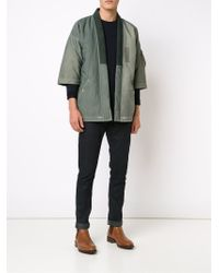 Visvim | Green 'sanjuro Kimono' Down Jacket for Men | Lyst