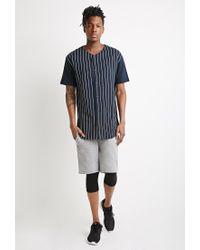 Forever 21 - Blue Striped Baseball Shirt for Men - Lyst