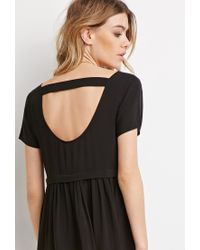 Forever 21 - Black Cutout-back Babydoll Dress - Lyst