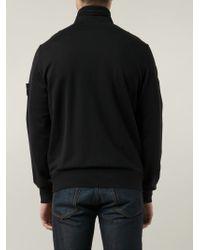 Stone Island - Black Bomber Jacket for Men - Lyst