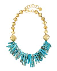 Nest | Metallic Turquoise Jasper Point Statement Necklace for Men | Lyst