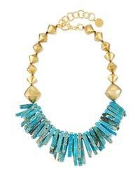 Nest - Metallic Turquoise Jasper Point Statement Necklace for Men - Lyst
