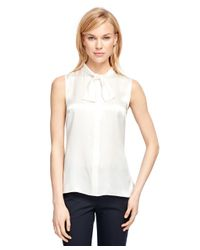 Brooks Brothers | White Silk Blouse | Lyst