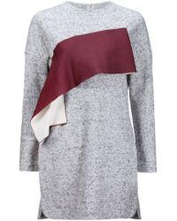 Toga - Gray Chest Appliqué Knit Dress - Lyst