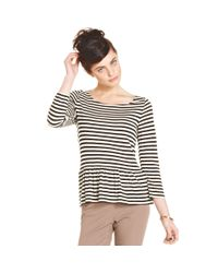 Maison Jules - White Striped Top - Lyst