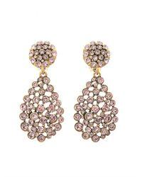 Oscar de la Renta - Pink Crystal Pavé Teardrop Earrings - Lyst