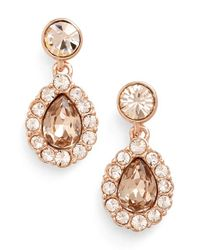 Givenchy - Pink Pear Halo Drop Earrings - Lyst