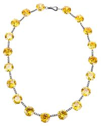 Bottega Veneta - Yellow Zircon Necklace - Lyst