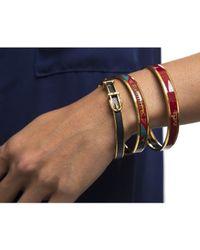 Hermès - Blue Pre-owned: Lizard Embossed Leather 65 Buckle Bracelet - Lyst