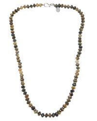 Joseph Brooks | Gray Pietersite Necklace for Men | Lyst