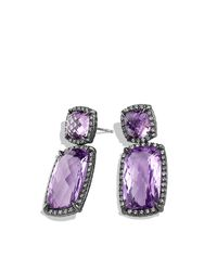 David Yurman | Purple Chatelaine Double-drop Earrings With Diamonds | Lyst