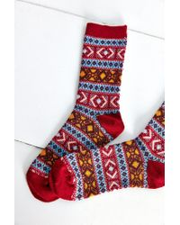Anonymous Ism - Blue Printed Sock - Lyst