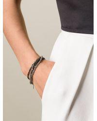 Arielle De Pinto - Black Crocheted Chain Bracelet - Lyst