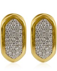 Monica Vinader - Metallic Small Gold Vermeil Diamond Baja Earrings - Lyst
