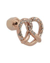 Marc By Marc Jacobs - Pink Salty Pretzel Rose Goldtone Cubic Zirconia Earrings - Lyst