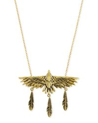 Pamela Love - Metallic Aguila Brass Eagle Pendant Necklace - Lyst