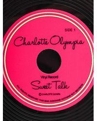 Charlotte Olympia | Black Vinyl Record Clutch | Lyst