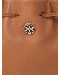 Tory Burch | Brown Brody Leather Bucket Bag | Lyst