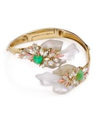 Alexis Bittar - Metallic Floral Punk Orchid Bangle - Lyst