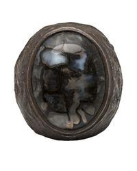 Brevard - Metallic Dinosaur Bone Ring for Men - Lyst