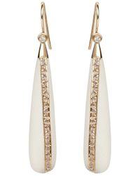 Maiyet | Metallic White Bone Teardrop Earrings | Lyst