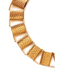 Forever 21 | Metallic Hammered Link Collar | Lyst
