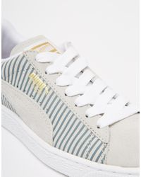 PUMA | Gray Suede Classic Lo Sneakers | Lyst