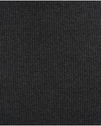 Zara | Gray Ribbed Dress | Lyst