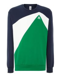 Le Coq Sportif | Blue Tricolores Ardiden Crew Neck Jumper for Men | Lyst