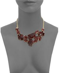 ABS By Allen Schwartz | Metallic Some Like It Hot Faceted Stone Bib Necklace | Lyst