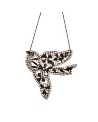Shourouk | Black Vintage Bird Flower | Lyst