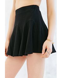 Silence + Noise - Black Godet Mini Skirt - Lyst