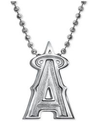 Alex Woo | Metallic Mlb Collection By Sterling Silver Los Angeles Angels Of Anaheim Pendant Necklace | Lyst