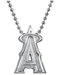 Alex Woo - Metallic Mlb Collection By Sterling Silver Los Angeles Angels Of Anaheim Pendant Necklace - Lyst