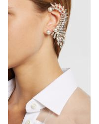 Ryan Storer - Metallic Oxidized Silver-plated, Swarovski Crystal And Pearl Earrings - Lyst