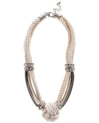 Coast | White Maris Knot Necklace | Lyst
