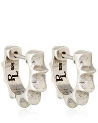 Pamela Love | Metallic Silver Sun Hoop Earrings | Lyst