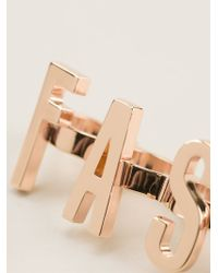 Moschino - Metallic Set Of Three Statement Rings - Lyst