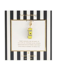 kate spade new york | Yellow How Charming Taxi Charm | Lyst