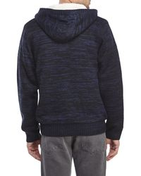 DKNY - Gray Jersey Hoodie for Men - Lyst