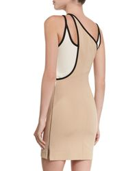 David Koma - Natural Tricolor Cutout Mini Dress - Lyst