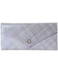 Lodis | Gray Sophia Cross Hatch Flat Pouch | Lyst