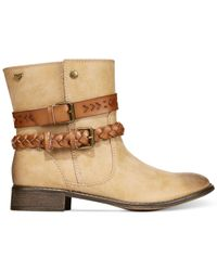 Roxy   Natural Skye Ankle Booties   Lyst