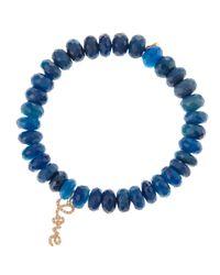 Sydney Evan | Blue Love Charm Bracelet | Lyst