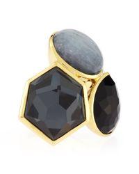 Ippolita | Black 18k Rock Candy 3stone Ring Lago | Lyst
