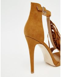 Truffle Collection - Brown Rita Tassel Heeled Sandals - Tan Mf - Lyst