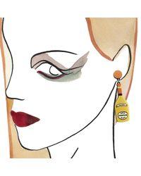 Yazbukey - Metallic Champagne Earrings - Lyst