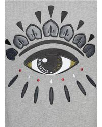 KENZO - Gray Graphic Eye Sweatshirt for Men - Lyst