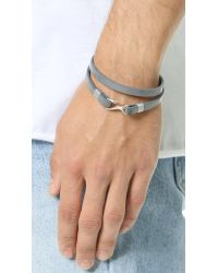 Miansai | Gray Foksol Leather Wrap Bracelet for Men | Lyst