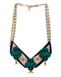 Lulu Frost - Green Katherine Bib Necklace - Lyst